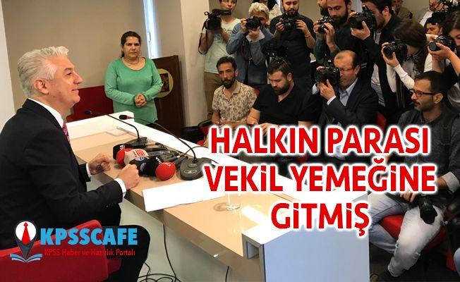 CHP'li Haşim Teoman Sancar: Halkın Parası Vekil Yemeğine Gitmiş