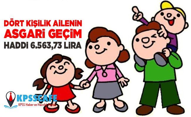 Dört Kişilik Ailenin Asgari Geçim Haddi 6.563,73 Lira