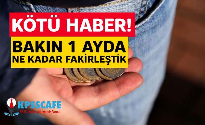 Kötü Haber: Bakın Bir ayda Ne Kadar Fakirleştik!