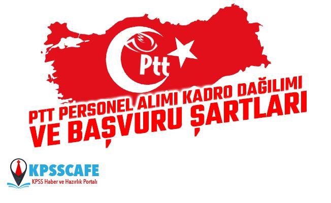 PTT 2019 Personel Alımı Kadro Dağılımı ve Başvuru Şartları!