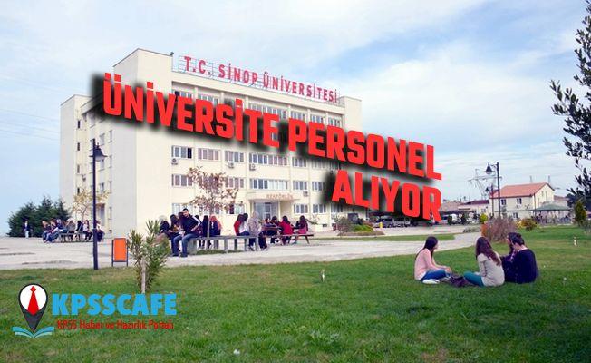 Sinop Üniversitesi Personel Alıyor! İşte alım Yapılacak Kadrolar!