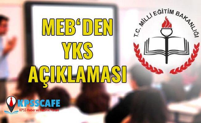 MEB'den 'YKS' açıklaması