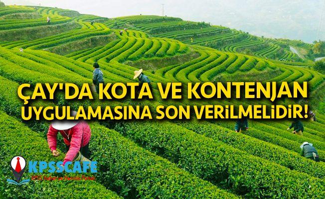 Çay'da Kota ve Kontenjan Uygulamasına Son Verilmelidir!