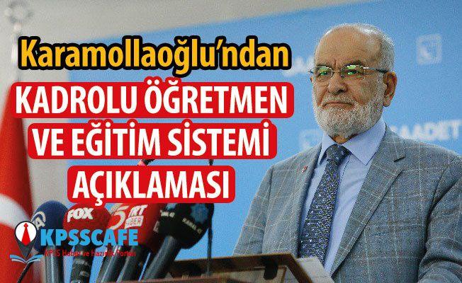 Karamollaoğlu'ndan Kadrolu Öğretmen ve Eğitim Sistemi Açıklaması!