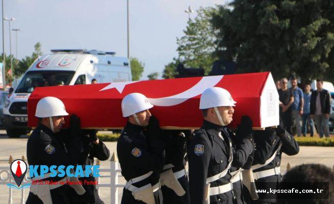 Şehit polis memuru Kartal dualarla uğurlandı