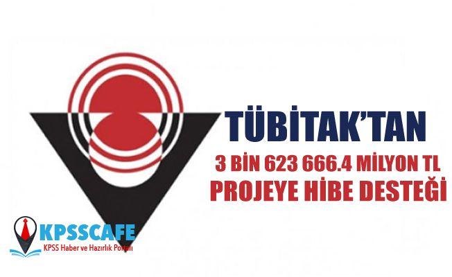 TÜBİTAK'tan 3 bin 623 projeye 666.4 milyon TL hibe desteği