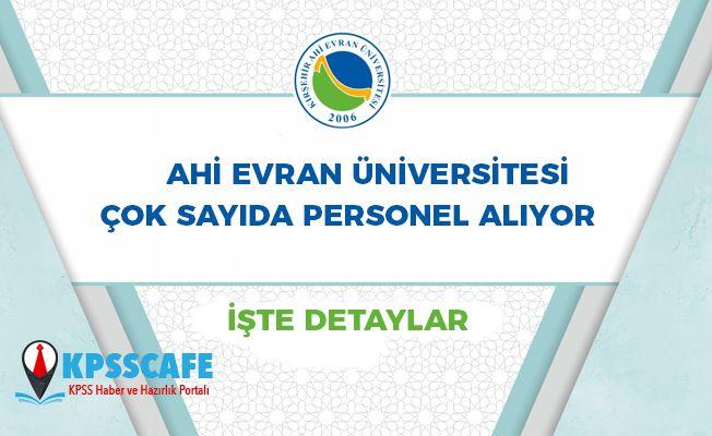 Kırşehir Ahi Evran Üniversitesi Personel Alıyor!