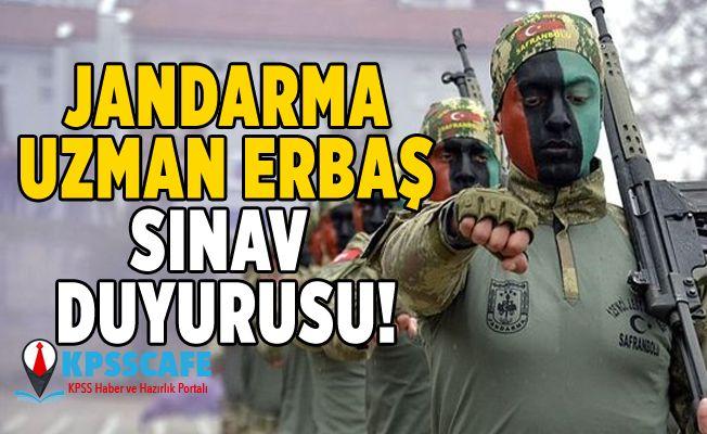 Jandarma Uzman Erbaş Sınav Duyurusu!