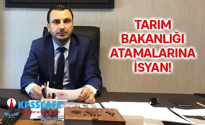 CHP'li Vekilden Tarım Bakanlığı Atamalarına İsyan : Bunun Adı Vicdansızlıktır, El İnsaf!
