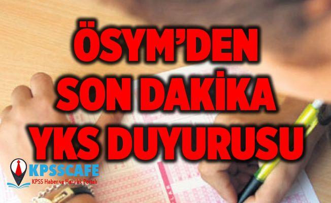 ÖSYM'den Son Dakika YKS Duyurusu!