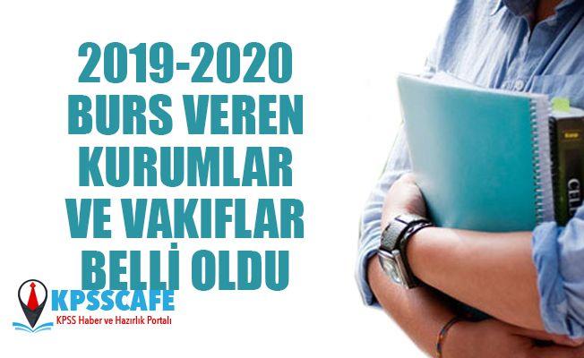2019 - 2020 Burs Veren Kurumlar ve Vakıflar Belli Oldu!
