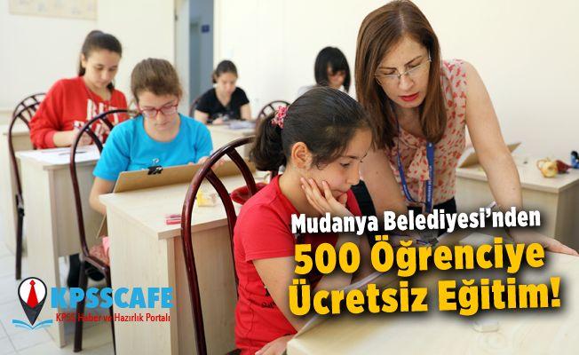 Mudanya Belediyesi'nden 500 Öğrenciye Ücretsiz Eğitim!