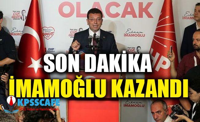 Ekrem İmamoğlu İstanbul Büyükşehir Belediye Başkanı Oldu!