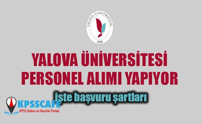 Yalova Üniversitesi Personel Alıyor!