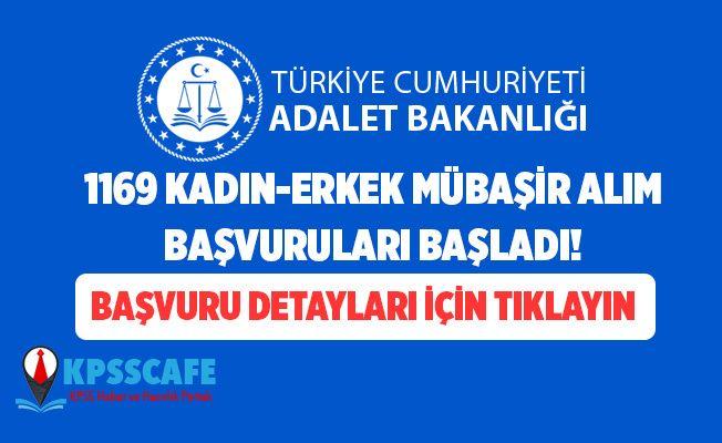 Adalet Bakanlığı 1169 Kadın-Erkek Mübaşir Alımı Başvuruları Başladı