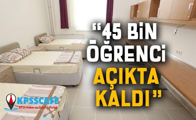 Bakan Kasapoğlu: 45 bin öğrenci açıkta kaldı