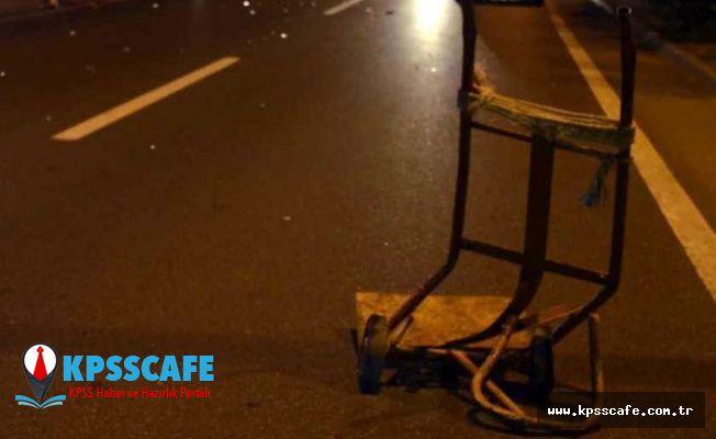 El arabasıyla kağıt toplayan 73 yaşındaki Çelik, otomobil çarpması sonucu hayatını kaybetti