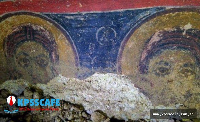 Nevşehir'de yeraltı şehrinde 800 yıllık kilise bulundu