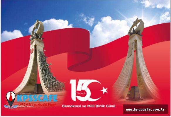 """PTT AŞ'DEN """"15 TEMMUZ DEMOKRASİ VE MİLLİ BİRLİK GÜNÜ"""" ÖZEL GÜN ZARFI VE POSTA KARTI"""