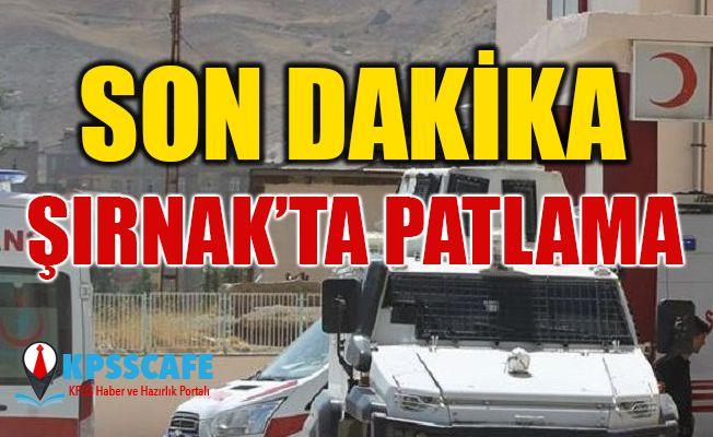 Şırnak'ta tuzaklanan patlayıcı infilak etti: 1 ölü, 2 yaralı