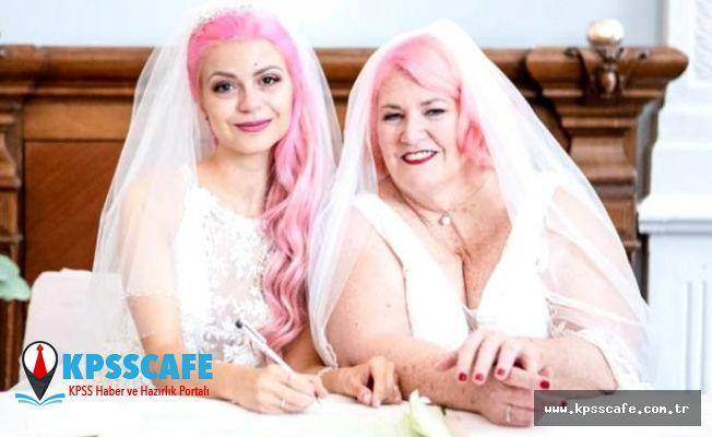 24 yaşındaki güzel YouTuber, 61 yaşındaki kız arkadaşıyla evlendi