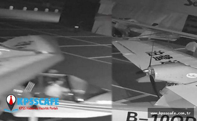 Bir çocuk uçak çalmaya çalışırken görüntülendi