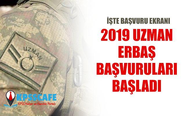 2019 Uzman Erbaş Başvuru Ekranı!