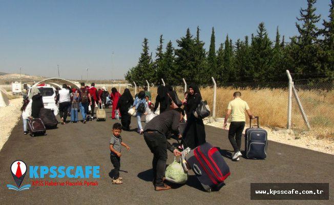 Suriyeliler Kurban Bayramı için ülkelerine gitmeye başladı