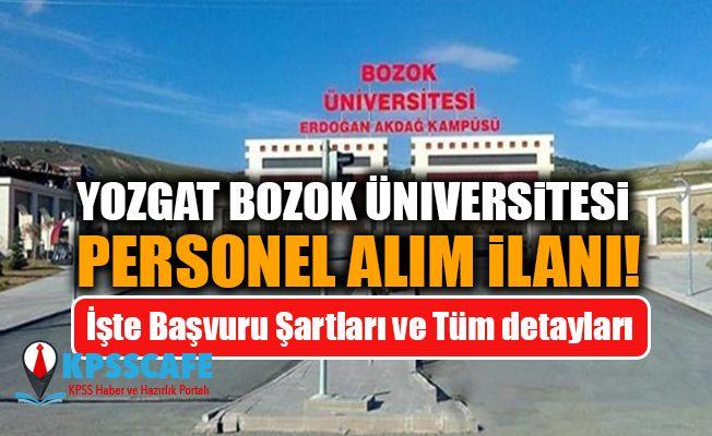 Yozgat Bozok Üniversitesi Personel Alım İlanı!