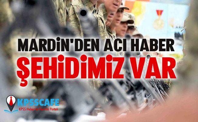 Mardin'den Acı Haber:1 şehit, 1'i ağır 4 yaralı