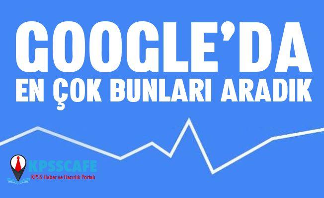 Türkiye geçen hafta Google'da en çok bunları aradı