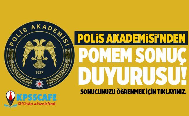 Polis Akademisi'nden POMEM sonuç duyurusu!