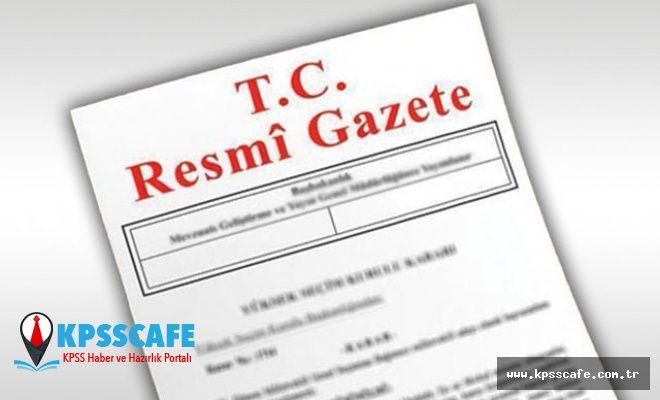 Cumhurbaşkanlığı atama kararları, Resmi Gazete'de