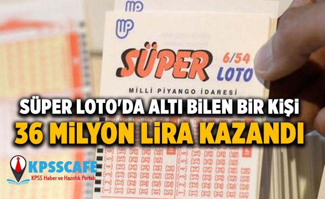 Süper Loto'da altı bilen bir kişi 36 milyon lira kazandı