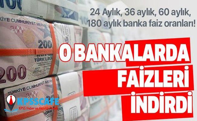 26 Ağustos TEB, Ziraat Bankası, Garanti, Halkbank kredi faiz oranları! 24 Aylık, 36 aylık, 60 aylık, 180 aylık banka faiz oranları!