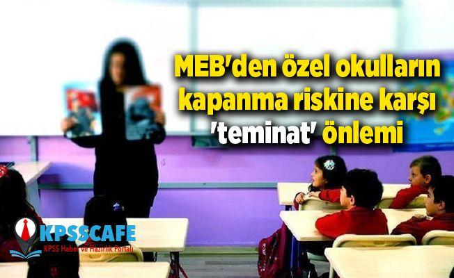 MEB'den özel okulların kapanma riskine karşı 'teminat' önlemi