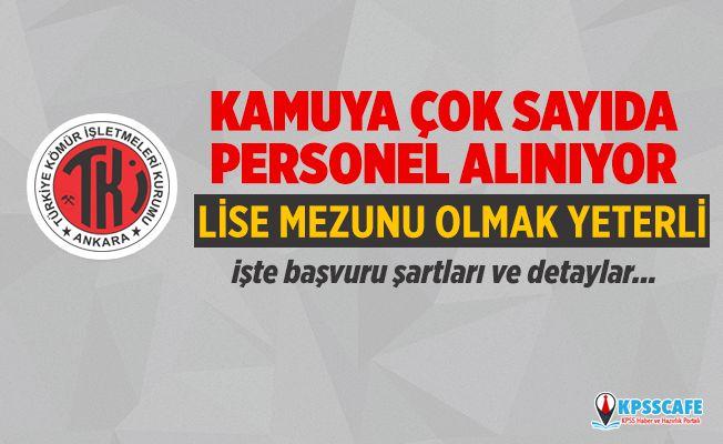 Türkiye Kömür İşletmeleri Çok Sayıda Personel Alıyor! Lise Mezunu Olmak Yeterli! İşte Başvuru Şartları...
