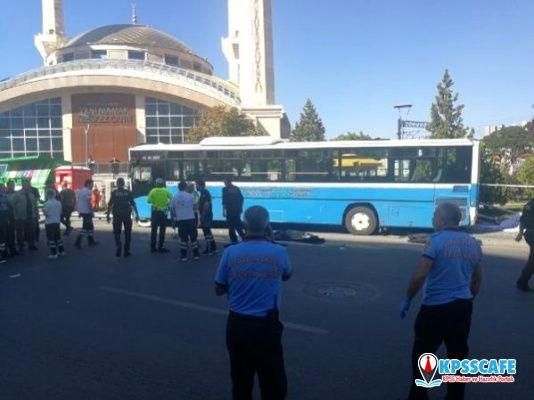 Ankara'da özel halk otobüsü durağa girdi: İlk belirlemelere göre 3 kişi hayatını kaybetti
