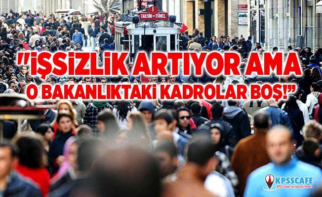 """CHP'li Gürer: """"İşsizlik artıyor ama o Bakanlıktaki kadrolar boş!"""""""