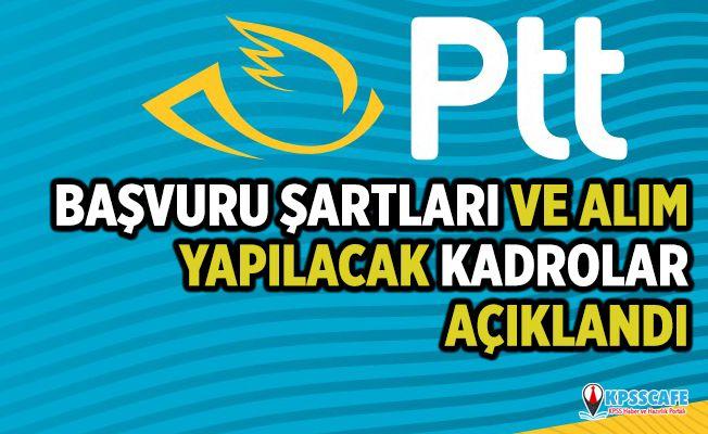 PTT KPSS'siz Personel Alımı 2019! Başvuru Şartları ve Alım Yapılacak Kadrolar Açıklandı...