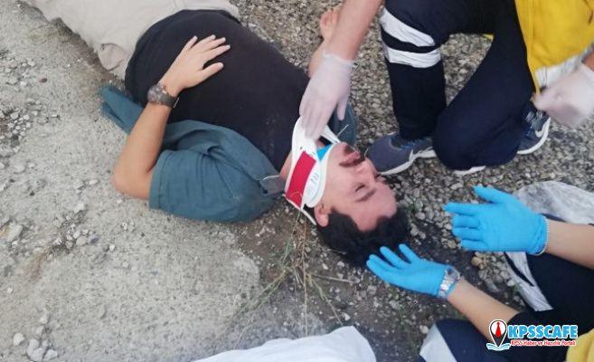 Alaşehir'li Gazeteci Defalarca Takla Attı