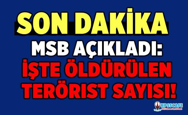 MSB açıkladı: İşte öldürülen terörist sayısı!