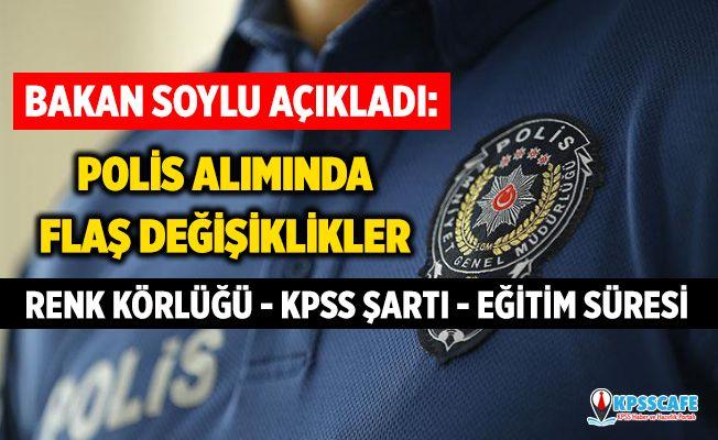 Bakan Soylu'dan Flaş Polis Alım Açıklaması! KPSS Şartı, Renk Körlüğü ve Eğitim Süreleri...