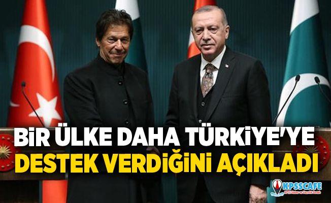 Bir ülke daha Türkiye'ye destek verdiğini açıkladı
