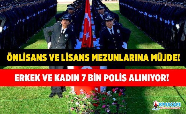 Önlisans ve Lisans Mezunlarına Müjde! 26. Dönem POMEM KPSS 60 ve 65 Puanla 7 Bin Erkek ve Kadın Polis Alınıyor!