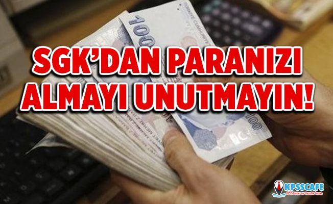 Paranızı unutmayın! SGK emeklilere verdiği maaşlar dışında çeşitli ödemeler yapıyor