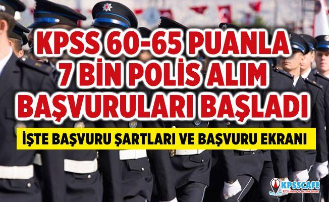 KPSS 60-65 Puanla 26. Dönem POMEM 7 Bin Polis Alımları Başladı! İşte Polis Başvuru Şartları...