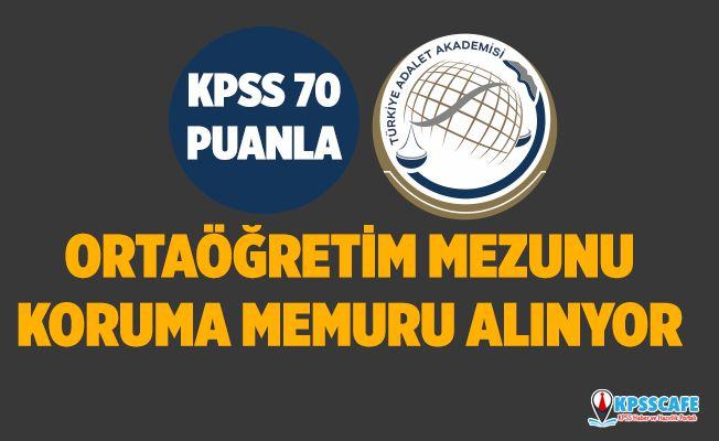Türkiye Adalet Akademisi Ortaöğretim Mezunu Koruma Memuru Alıyor! İşte Başvuru Şartları...