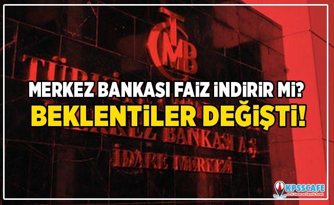 Merkez Bankası faiz indirir mi? Beklentiler değişti!