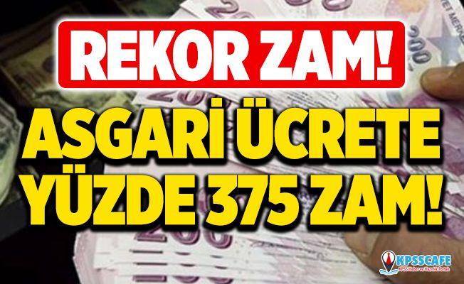 REKOR ZAM! Asgari ücrete yüzde 375 zam yapıldı!